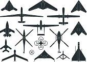 Set of Drone Symbols