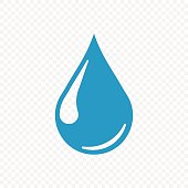 Drop icon isolated on transparent background. Vector illustration. Eps 10.