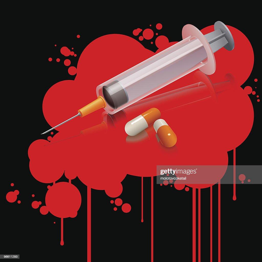 drug kills (vector) : Vector Art