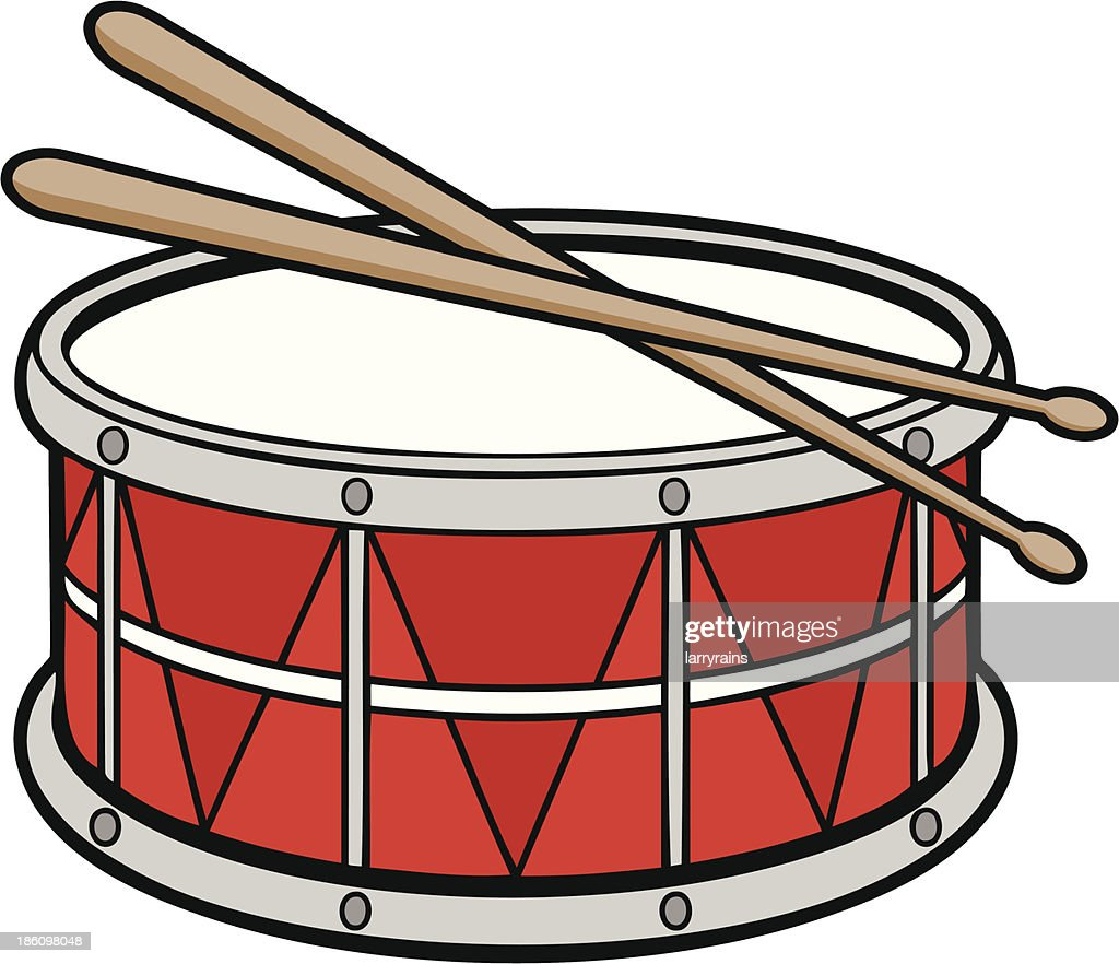Marching Band Hat Cartoon Snare Drum Stock Illus...