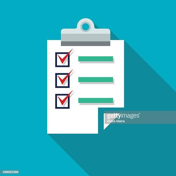 Icône -VECTOR Ducument presse-papiers de liste