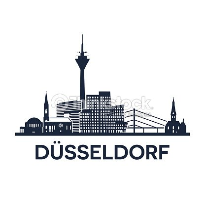 duesseldorf skyline emblem vector art thinkstock. Black Bedroom Furniture Sets. Home Design Ideas