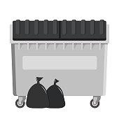 garbage bin icon pollution symbol