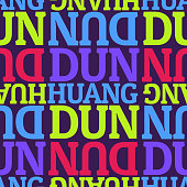 Dunhuang, china seamless pattern, typographic city background texture