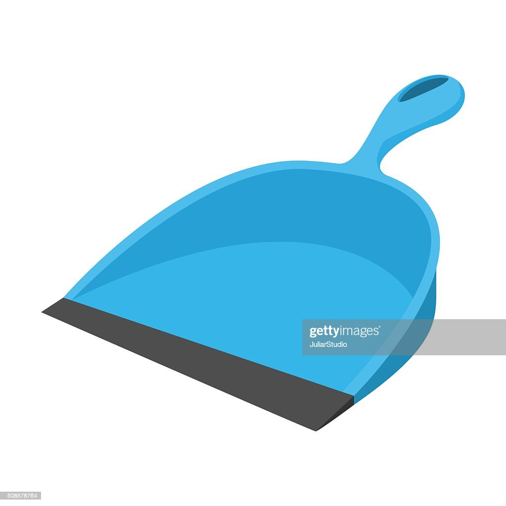 Dustpan blue cartoon icon : Vektorgrafik