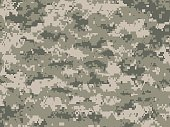 Vector illustration of modern pixels light green camouflage pattern