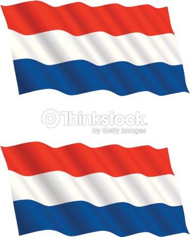 Bandiera Olandese Volante Nel Vento Arte Vettoriale Thinkstock