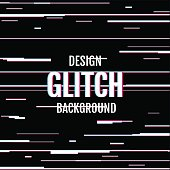 Black background with glitch effect. Use for design concepts, posters, banners, web, presentations and prints. Vector illustration.
