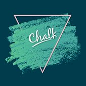 Dynamic vector strokes. Grunge texture of chalk. Wide artistic brush. Soft blue colors of the palette. Template for registration of stickers, banners, posters.
