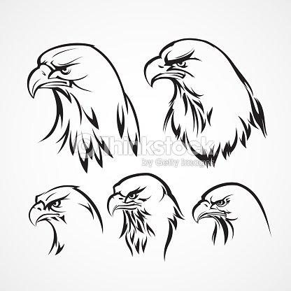 eagle badge template silhouette vector illustration vector art