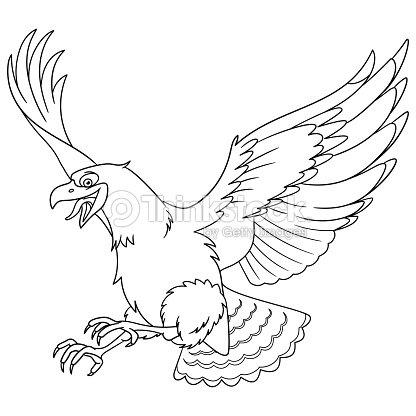 Águila Pájaro Para Colorear Arte vectorial | Thinkstock