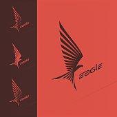 Eagle emblem design design vector