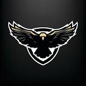 Eagle in flight, icon , symbol.