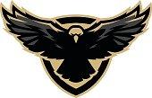Eagle in flight, icon