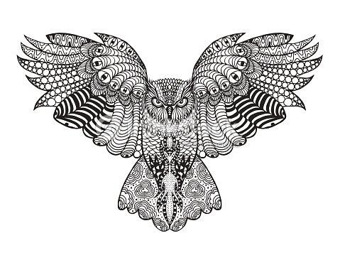 eagle owl vector art thinkstock. Black Bedroom Furniture Sets. Home Design Ideas