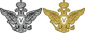 Eagle  engrawing picture. Vector illustration