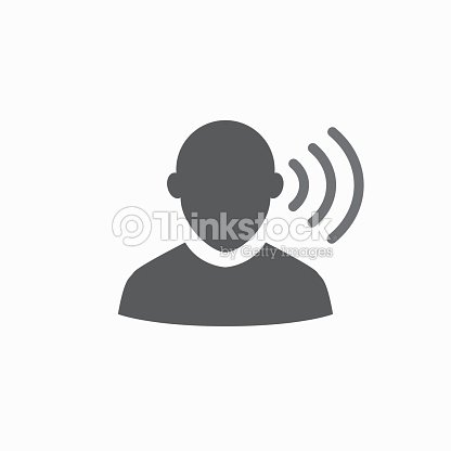 ear and ear canal outline icon image for hearing or listening loss