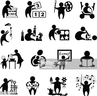 early learning symbols vector art getty images