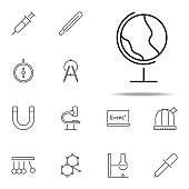 earth global icon. Scientifics study icons universal set for web and mobile on white background
