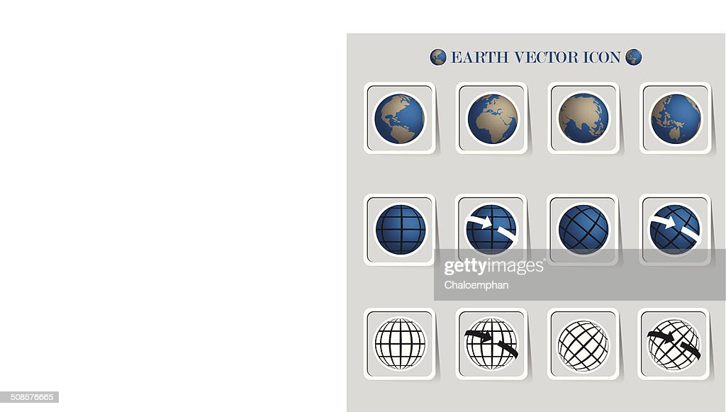 Earth vector icon set.Credit by NASA : Vector Art