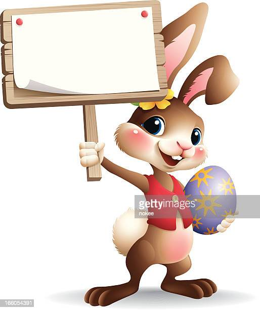 Easter Bunny - sign