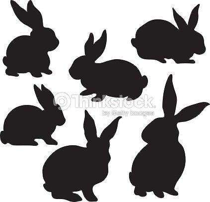 Easter Bunny Silhouette Vektorgrafik