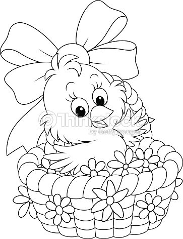 Easter Chick Vector Art