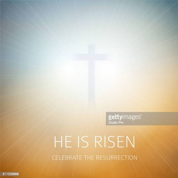 Easter christian background resurrection