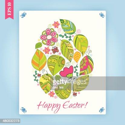Easter egg background. : Vector Art