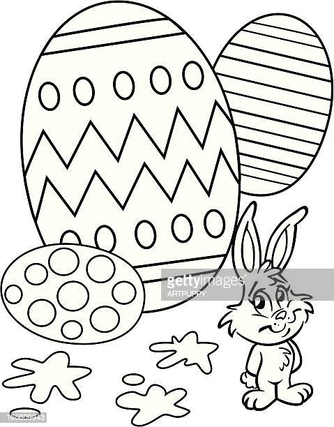 Easter Egg Coloring Book Page