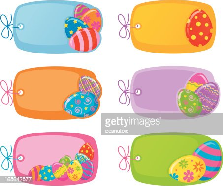 Pastel easter egg border vector art getty images similar images negle Image collections