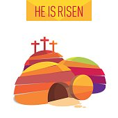 Easter Resurrection Cave Jesus Risen Congratulation postcard