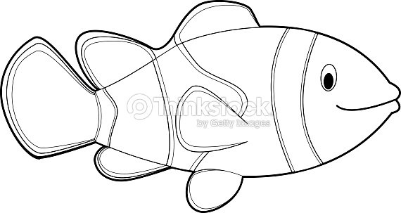 easy coloring animals for kids clownfish vector art - Coloring Animals For Kids
