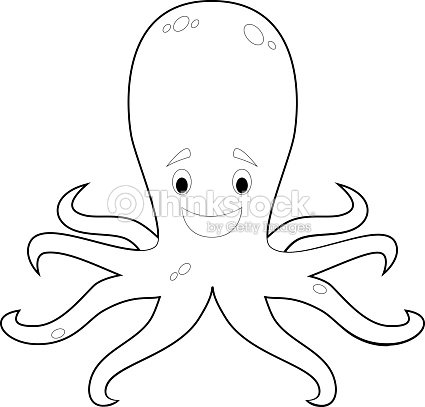 Easy coloring animals for kids octopus vector art thinkstock for Simple octopus drawing
