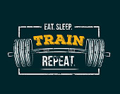 Workout inspirational Poster. Vector design for gym, textile, posters, t-shirt, cover, banner, cards, cases etc.