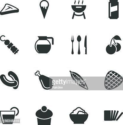 Eating Silhouette Icons   Set 3