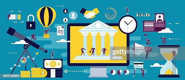 e-banking, online business communication