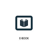 e-Book icon. Simple element illustration. e-Book symbol design from eLearning collection. Can be used in web and mobile.
