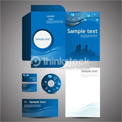 eco corporate folder template with die cut design vector art