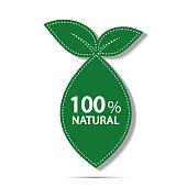 eco green energy concept,100 percent natural label. Vector illustration.