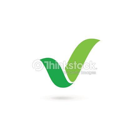 eco leaves or check mark licon arte vetorial thinkstock