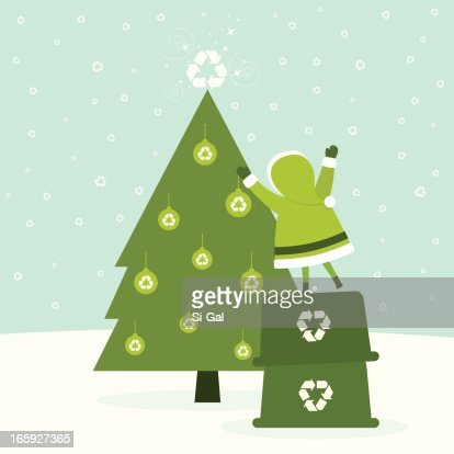 Eco Friendly Christmas ecofriendly christmas tree vector art | getty images