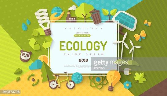 Ecology concept banner : stock vector