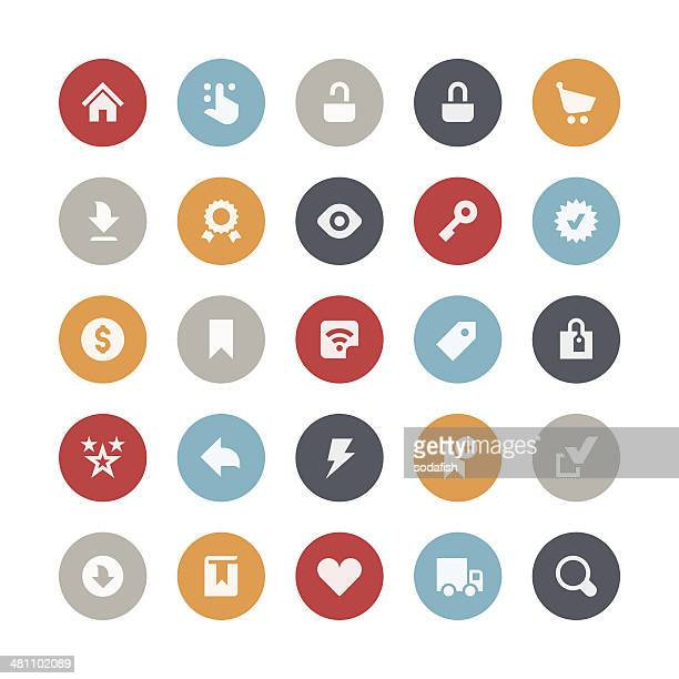 e-commerce et icônes de magasins en ligne/Orbis series