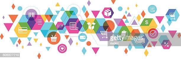 E-commerce composizione di design