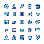 Ecommerce, internet commerce, online shopping line icons set. Modern graphic design concepts, simple symbols, linear stroke web elements, pictograms collection. Minimal thin line design. Premium quali