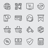 E-commerce line icon