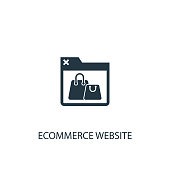 eCommerce website icon. icon element illustration. eCommerce website symbol design from eCommerce collection. Simple eCommerce website concept. Can be used in web and mobile.