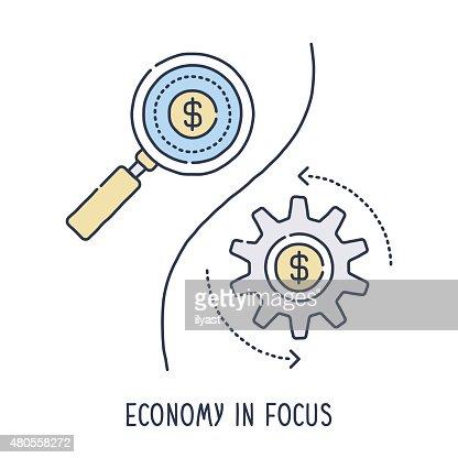 Economy in Focus : Vector Art