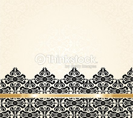 Ecru black and gold vintage invitation background vector art ecru black and gold vintage invitation background vector art stopboris Image collections